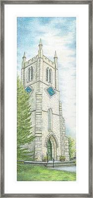 Church Clock Framed Print by Sandra Moore