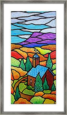 Church In The Wildwood Framed Print