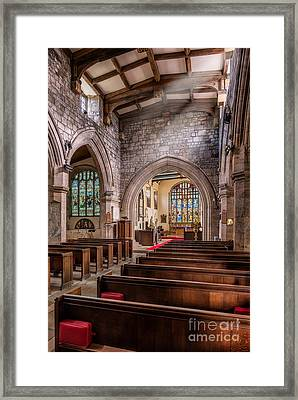 Church Light Framed Print by Adrian Evans