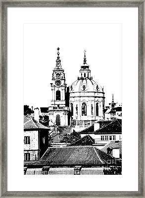 Church Of St Nikolas Framed Print by Michal Boubin