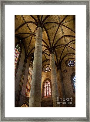 Framed Print featuring the photograph Church Of The Jacobins Interior by Elena Elisseeva