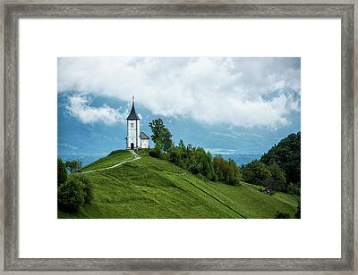 The Church Of Saints Primus And Felician Framed Print by Lindley Johnson