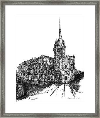 Church Framed Print by Pamela Canzano
