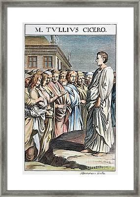 Cicero (106-43 B.c.) Framed Print