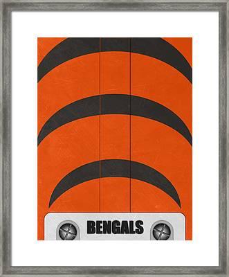 Cincinnati Bengals Helmet Art Framed Print