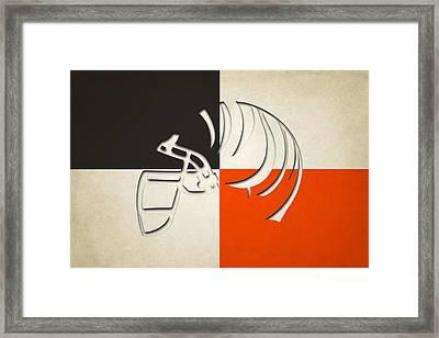 Cincinnati Bengals Helmet Framed Print
