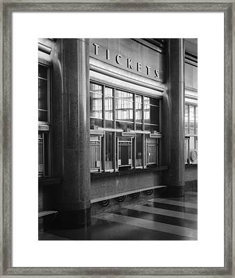 Cincinnati Union Terminal, Ticket Framed Print by Everett