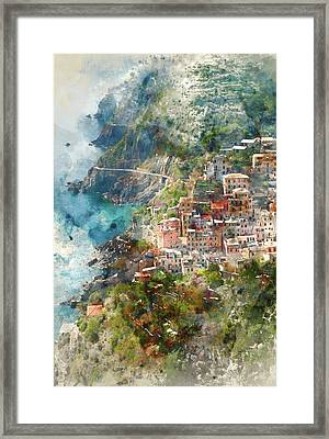 Cinque Terre In Italy Framed Print by Brandon Bourdages