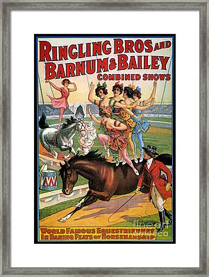 Circus Poster, 1920s Framed Print by Granger