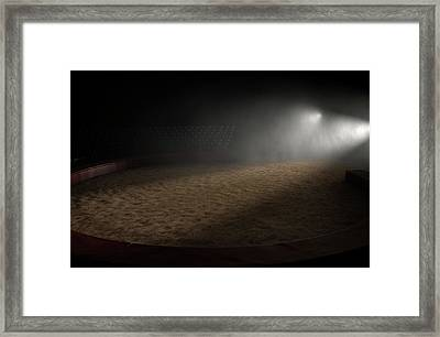 Circus Ring Empty Framed Print