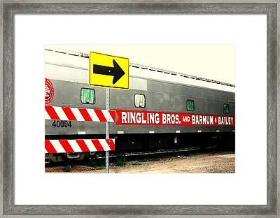 Framed Print featuring the photograph Circus Train by Clarice  Lakota