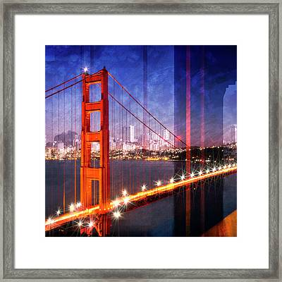 City Art Golden Gate Bridge Composing Framed Print