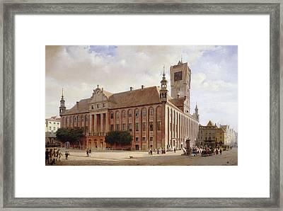 City Hall At Thorn Framed Print by Eduard Gaertner