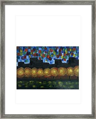 City Lights Framed Print by Aida Behani