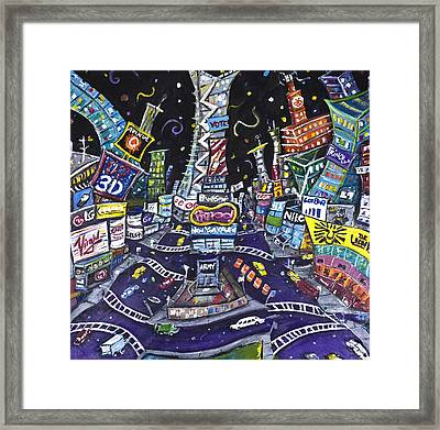City Of Lights Framed Print by Jason Gluskin
