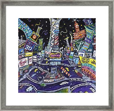 City Of Lights Framed Print by Jason Gluskin