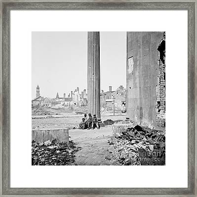 Civil War: Charleston, 1865 Framed Print