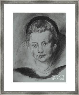Clara Framed Print by Covaliov Victor