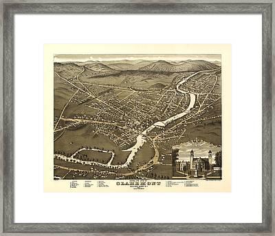 Claremont New Hampshire 1877 Framed Print