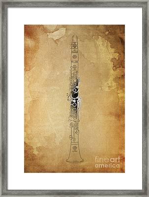 Clarinet 21 Jazz B Framed Print