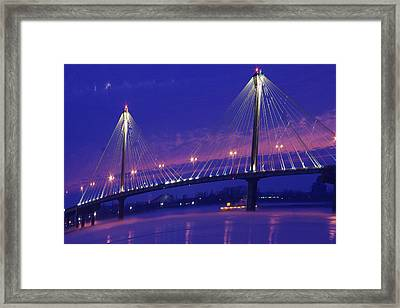 Clark Bridge Sunrise Framed Print