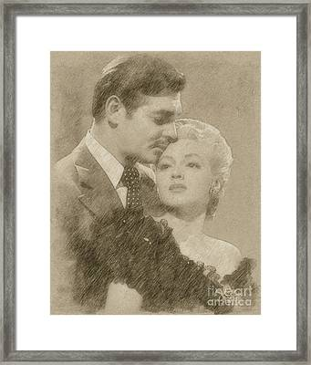 Clark Gable And Lana Turner Hollywood Legends Framed Print by Frank Falcon
