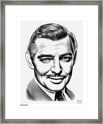 Clark Gable Framed Print by Greg Joens