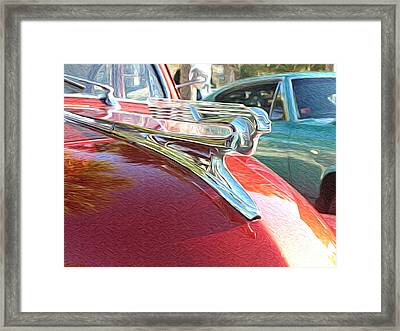 Classic Cars - 1941 Chevy Special Deluxe Business Coupe - Flying Lady Hood Ornament Framed Print by Jason Freedman