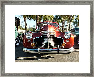 Classic Cars - 1941 Chevy Special Deluxe Business Coupe - Front End Framed Print by Jason Freedman
