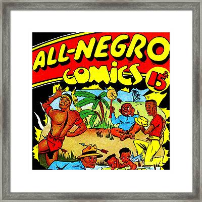 Classic Comic Book Cover All Negro Comics Square Framed Print by Wingsdomain Art and Photography