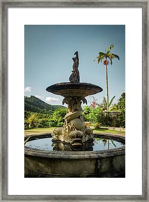 Framed Print featuring the photograph Classic Fountain by Carlos Caetano
