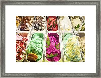 Classic Italian Gelato Ice Cream In Shop Display Framed Print by Jacek Malipan