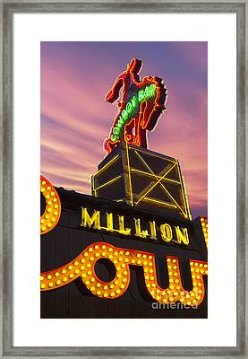 Classic Neon Sign Framed Print