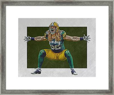 Clay Matthews Green Bay Packers Framed Print