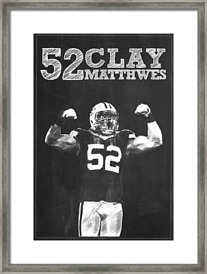 Clay Matthews IIi Framed Print by Semih Yurdabak