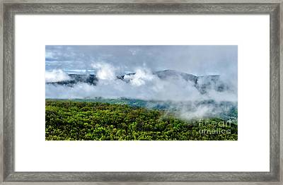Clearing Storm West Virginia Highlands Framed Print by Thomas R Fletcher