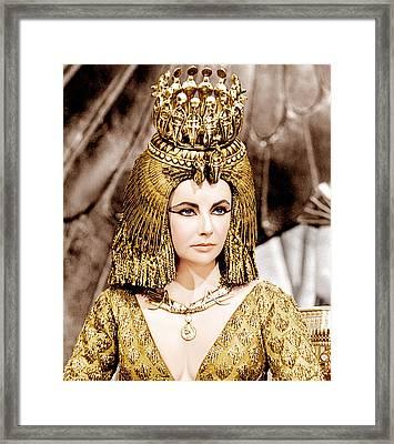 Cleopatra, Elizabeth Taylor, 1963 Framed Print