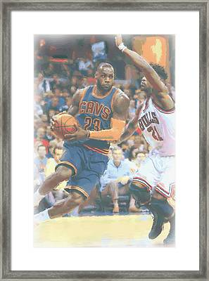 Cleveland Cavaliers Lebron James 2 Framed Print by Joe Hamilton