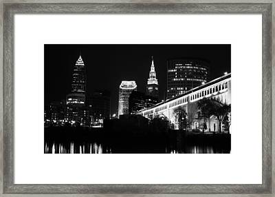Cleveland From The River Framed Print by Alex Jones