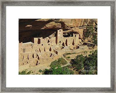 Cliff Palace Mesa Verde Framed Print by Debby Pueschel