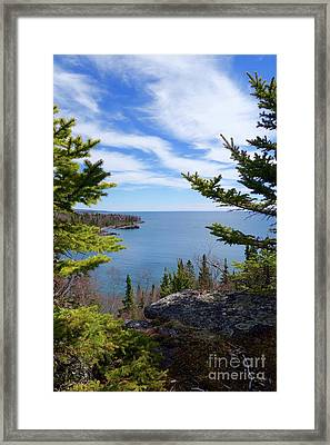 Cliff Top View Framed Print by Sandra Updyke