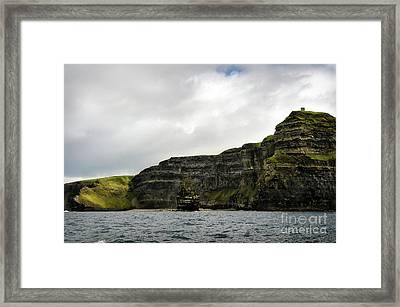 Framed Print featuring the photograph Cliffs Of Moher From The Sea by RicardMN Photography