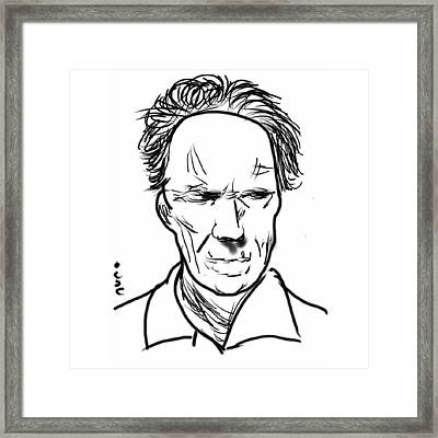 Clint Eastwood Framed Print by Nuno Marques