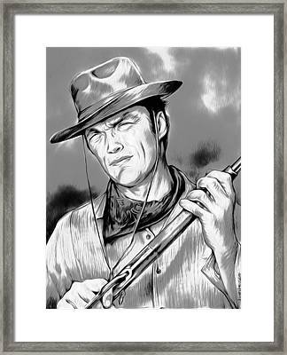 Clint Framed Print by Greg Joens