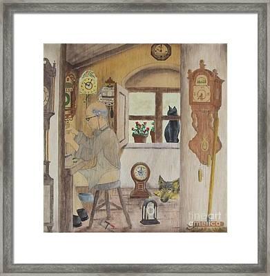 Clockmaker 2 Framed Print by Annemeet Hasidi- van der Leij