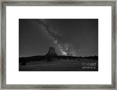 Close Encounters Of The Third Kind Devils Tower Framed Print by Michael Ver Sprill