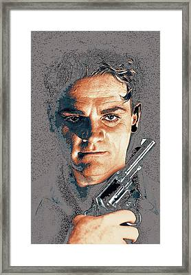 Close Up James Cagney As Gangster Rocky Sullivan In Angels With Dirty Faces 1938-2008 Framed Print by David Lee Guss