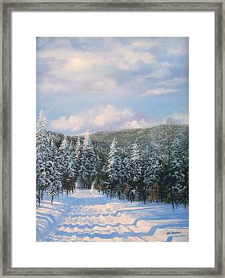 Closed In Winter Framed Print