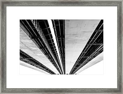 The Divide Framed Print
