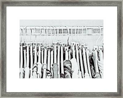 Clothes Sale Framed Print